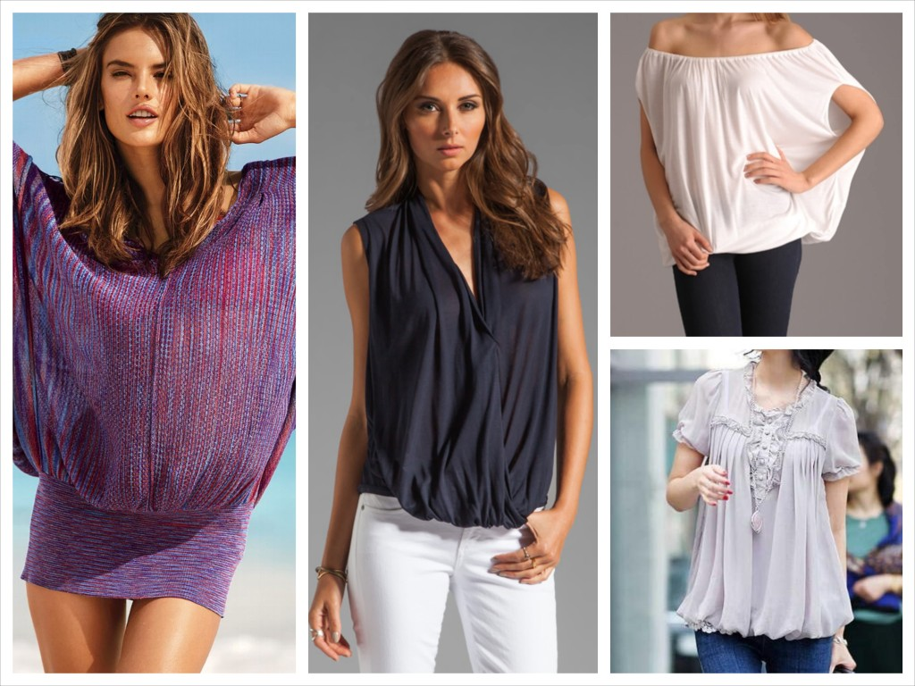 Wear Tops with a Band or a Rib at the Hemline