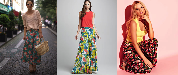 How to wear palazzo pants - Floral Prints