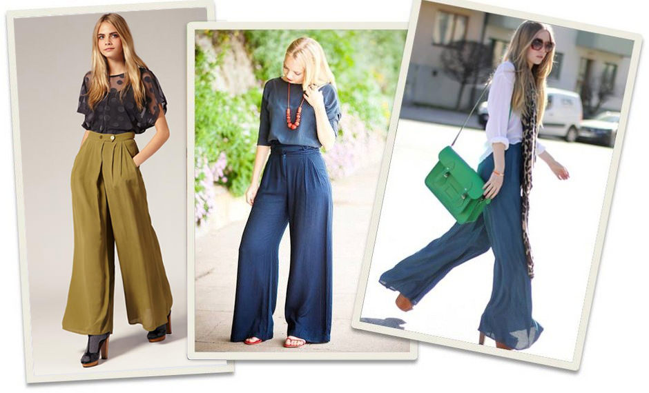 How to wear palazzo pants - Choose the right accessory