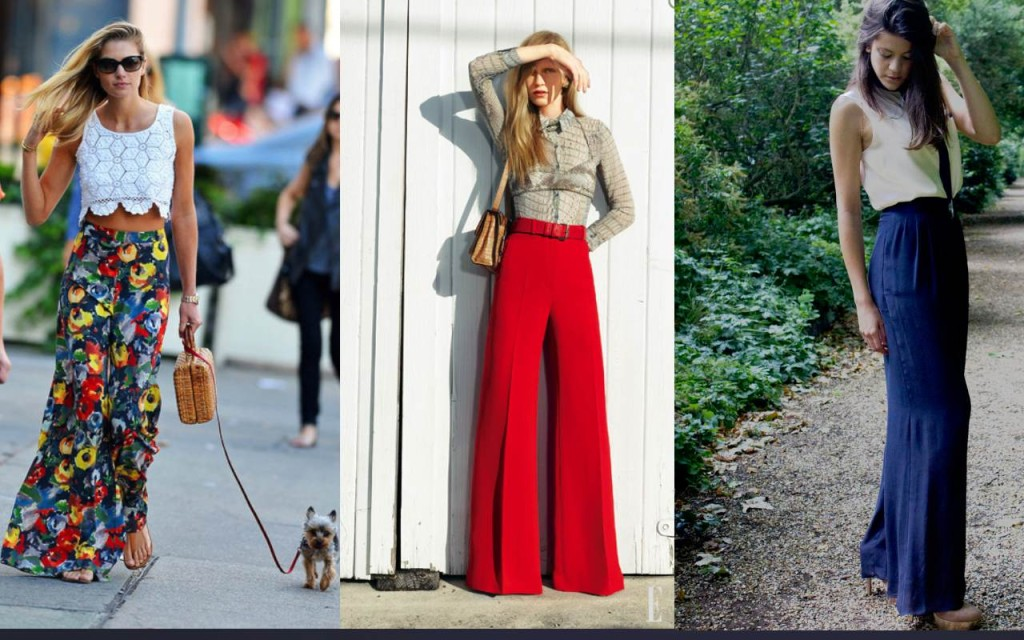 How to wear palazzo pants - Bright color pants