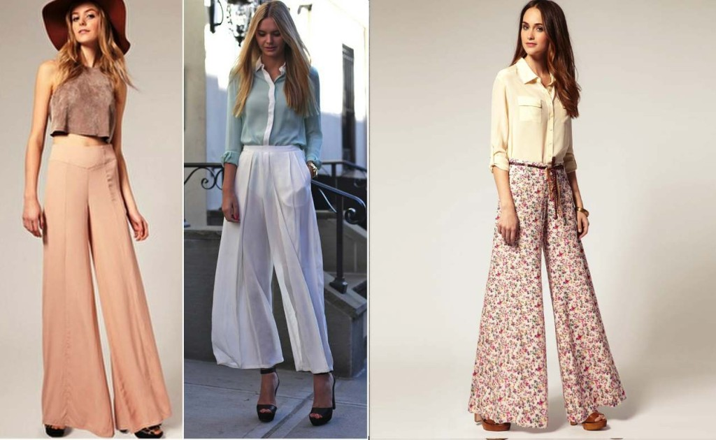 How to wear palazzo pants- Pair it with a short top