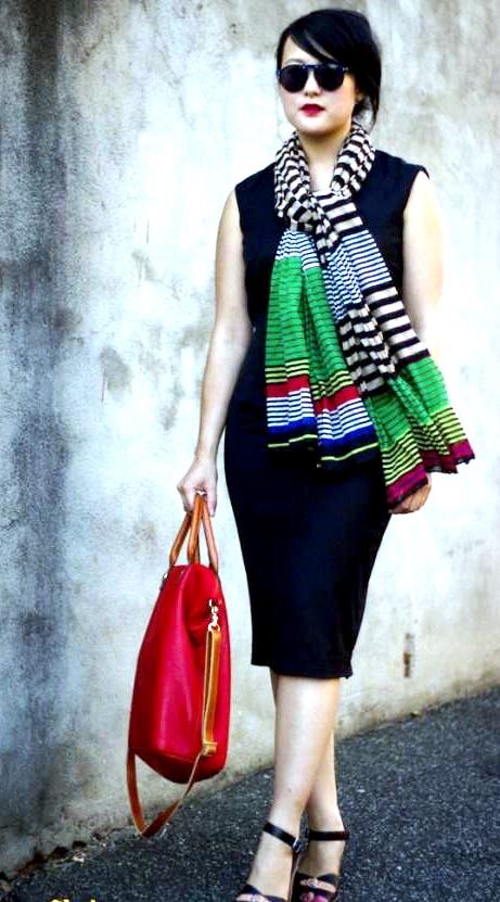 Add a splash of color with a Scarf
