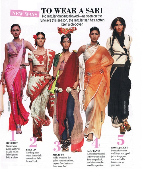 interesting ways to wear saree-main collage