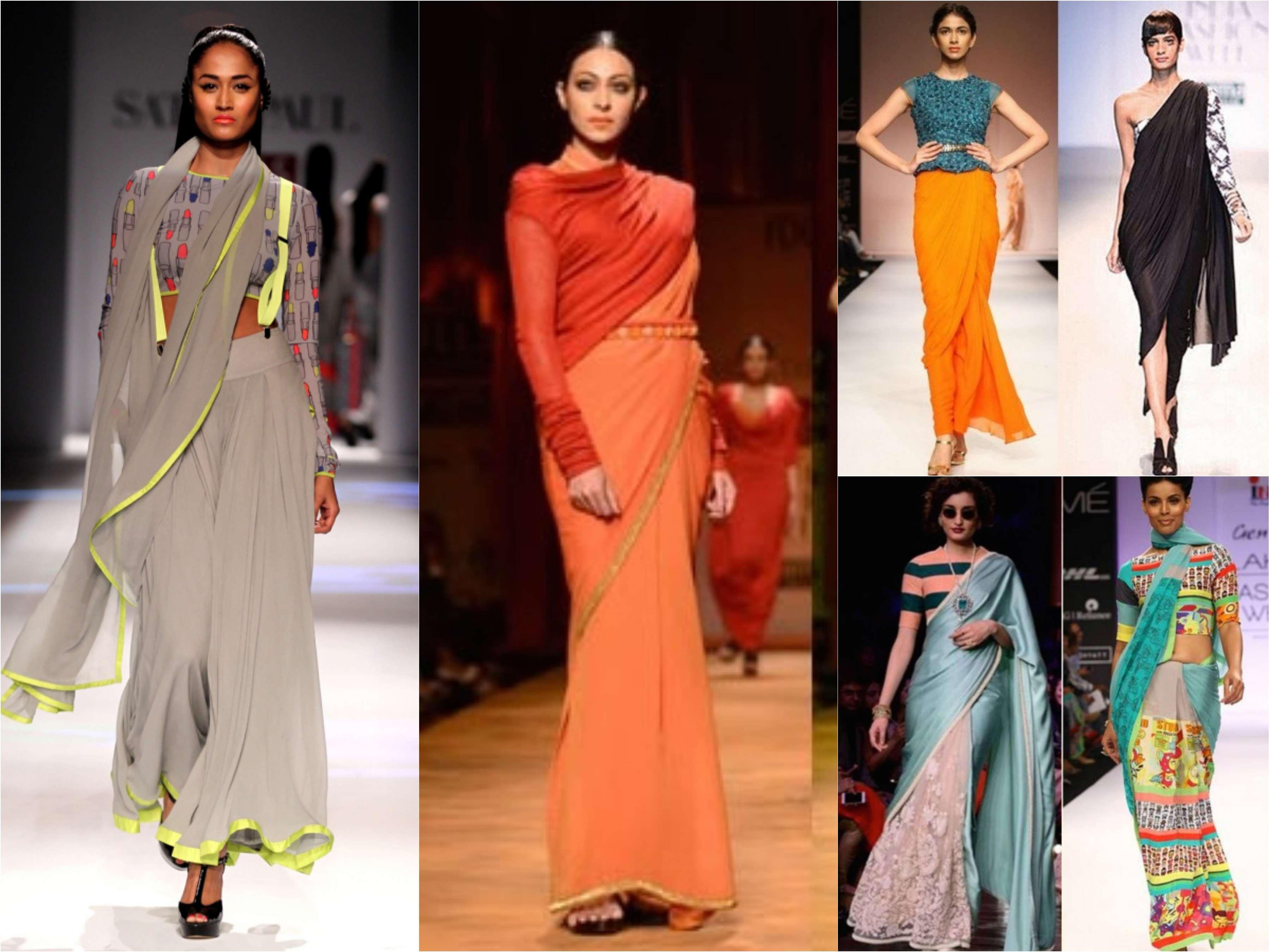 f59c603364de59 Saree- Interesting latest trends to wear a Saree   Reinvent your ...