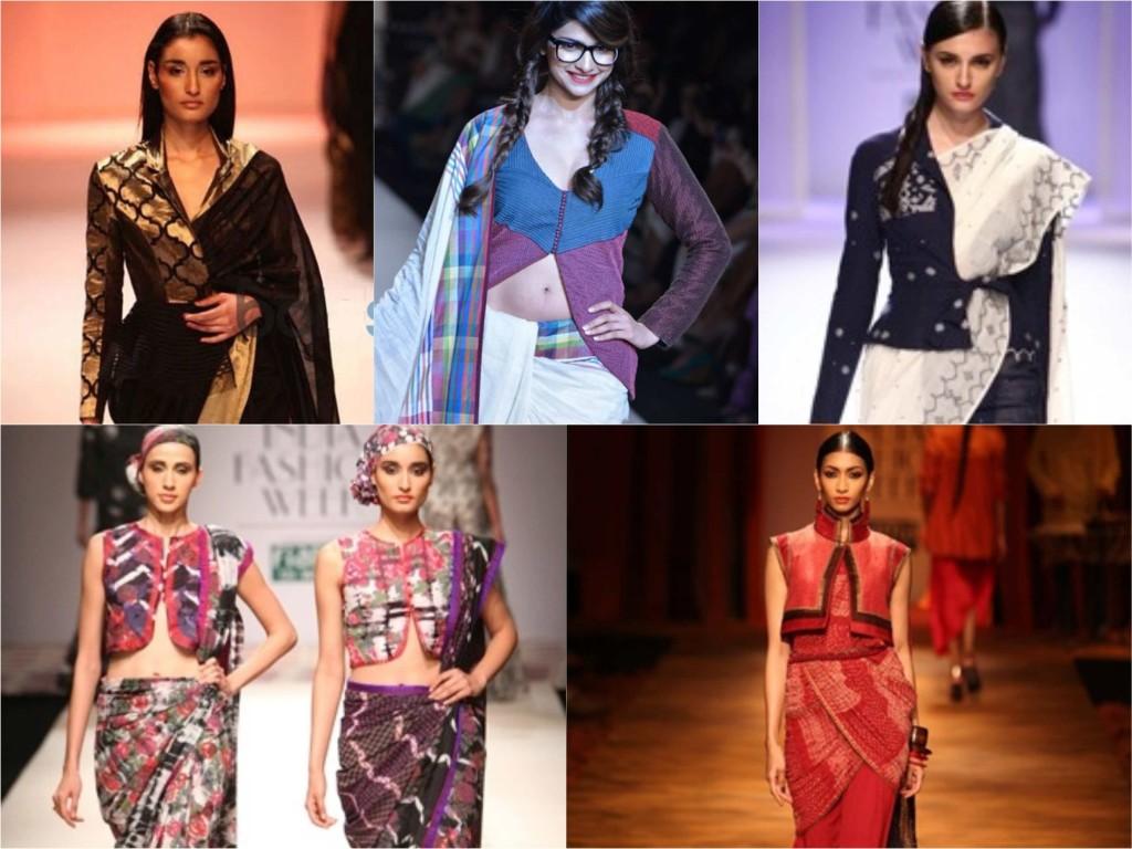jacket style saree_Collage copy