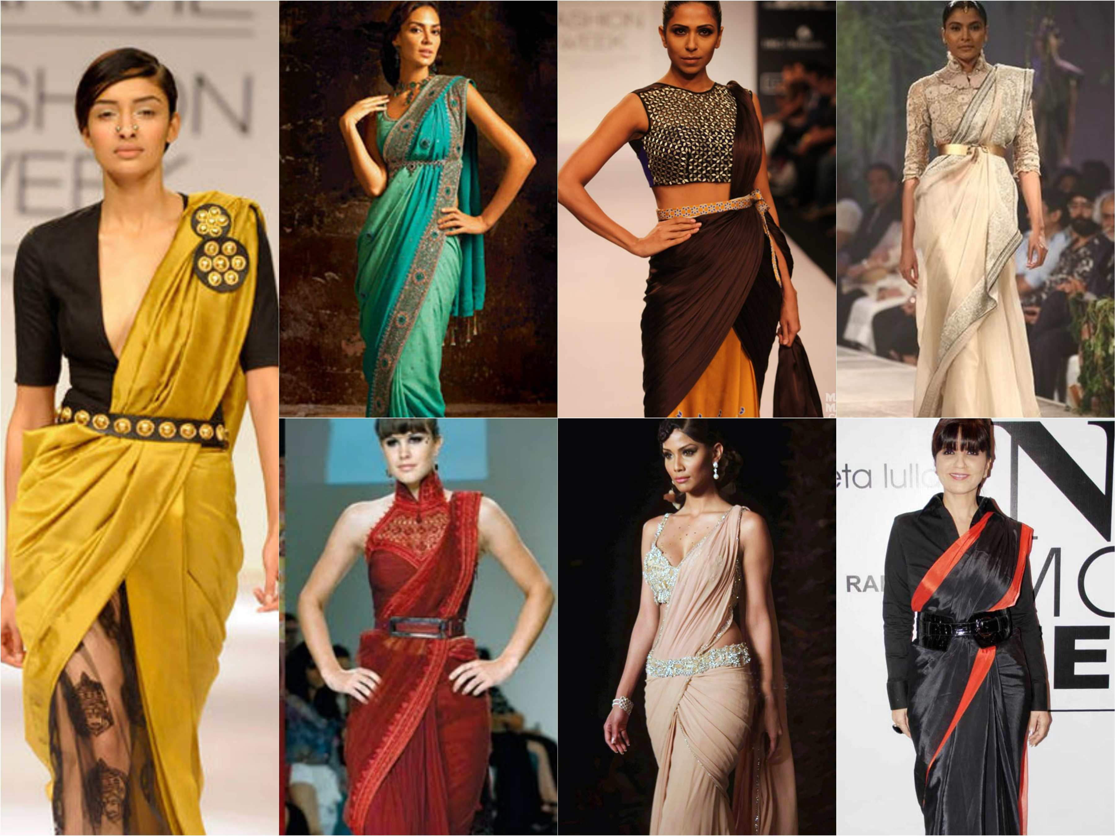 How to wear a sari modern
