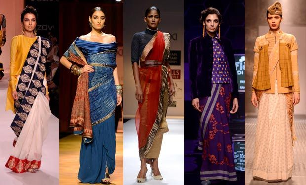 new ways to wear saree