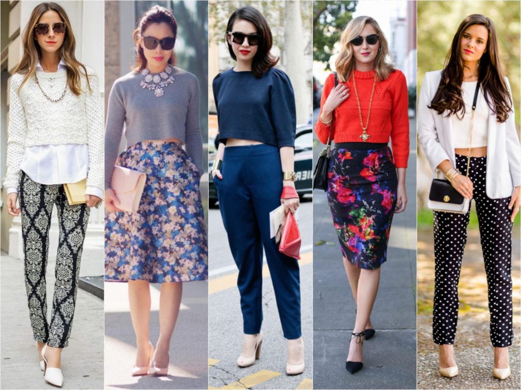 How to wear crop top in office